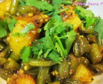 Green Beans -Potato Curry Recipe/ Fharasbi chi Bhaji / Hari Phali ki Sabji