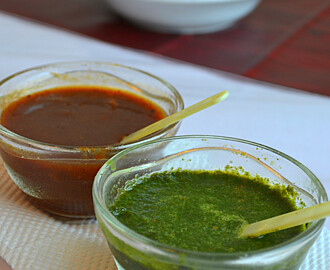 How to make Green Chutney & Sweet Chutney for Chats : ( Mint Chutney ) / ( Date & Tamarind  Chutney )  / Chutneys for Chats: