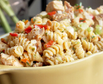 Fried Chicken Pasta Salad