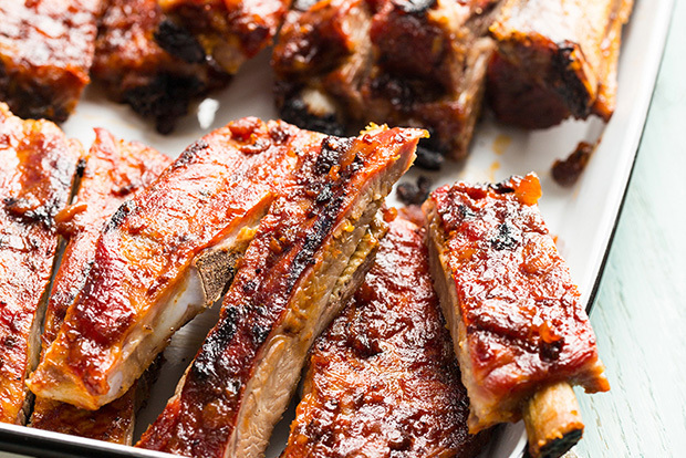 Classic Barbecue Pork Ribs with Smoky Bacon Barbecue Sauce