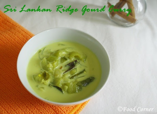 Sri Lankan Ridge Gourd Curry (Watakolu Curry)