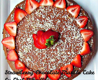 Strawberry Chocolate Marble Cake