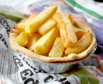 ALL IN ONE PIE - FISH CHIPS & MUSHY PEAS