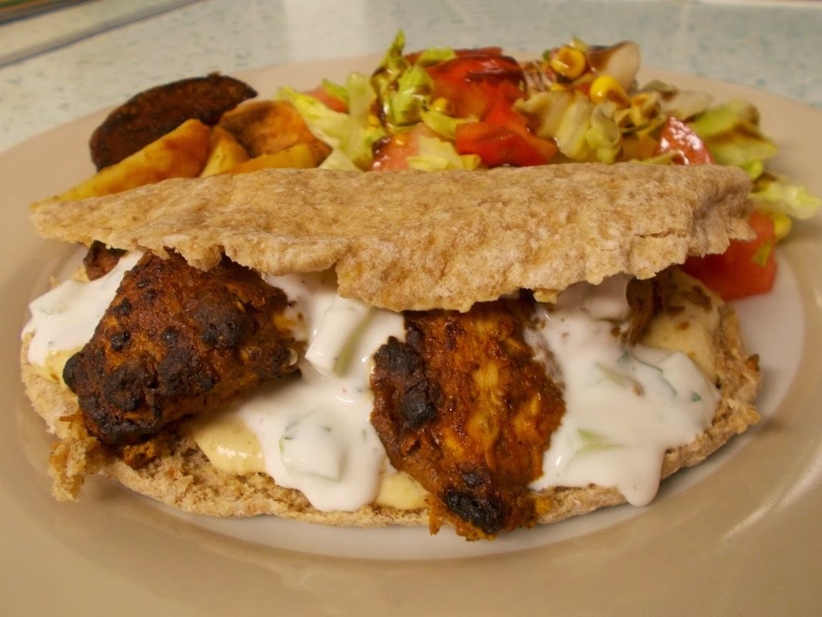 Kashmiri Spiced Chicken Pittas