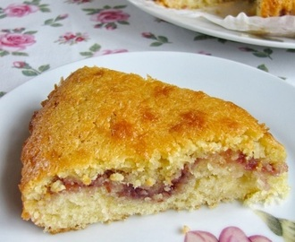Coconut and raspberry cake/slice...