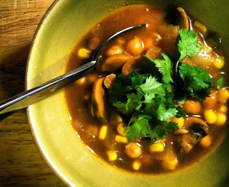 Spicy Chickpea and Vegetable Soup
