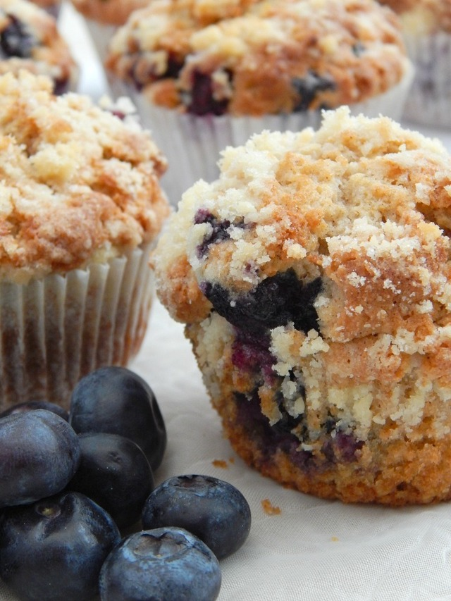 Proper Old School Blueberry Muffins