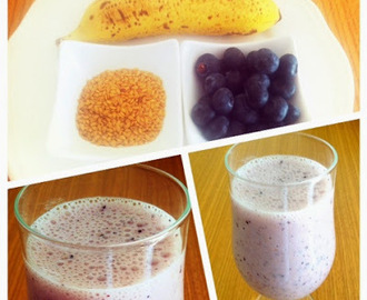 Smoothie de Mirtilos e Banana