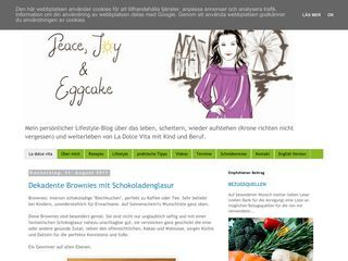 Peace, Joy and Eggcake