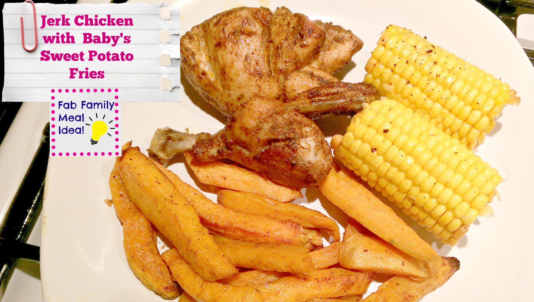 Jerk Chicken with Spicy Sweet Potato Fries