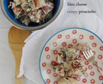 Potato Salad with Bleu Cheese and Crispy Prosciutto