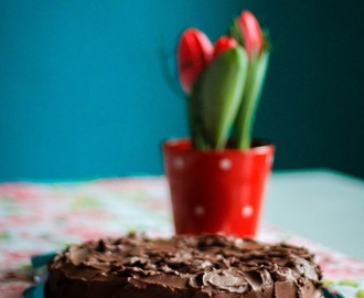 Double Choc cake with Macadamia nuts - Schokosünde aus dem Thermomix...