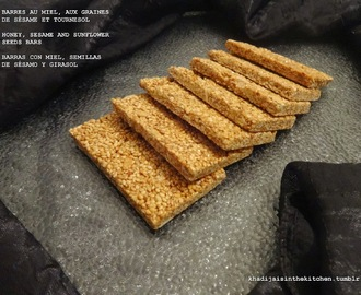BARRES AU MIEL, AUX GRAINES DE SÉSAME ET TOURNESOL / HONEY, SESAME AND SUNFLOWER SEEDS BARS / BARRAS CON MIEL, SEMILLAS DE SÉSAMO Y GIRASOL