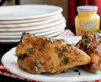 Roasted Honey Mustard Chicken