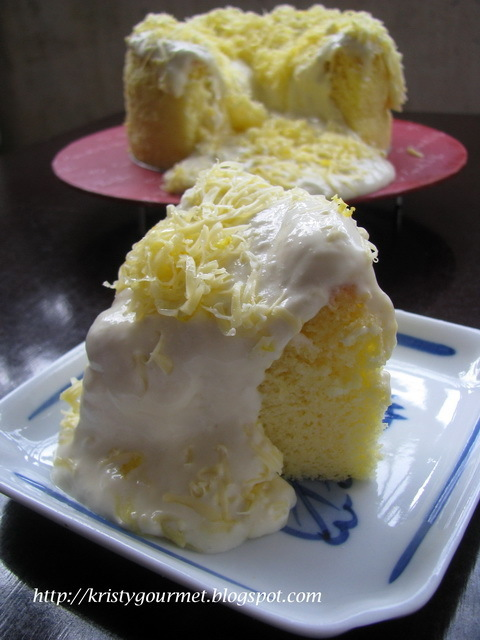Taiwanese Cheesy Dirty Cake 起士爆浆奶盖蛋糕