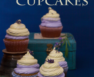 Lavender Cupcakes with Vanilla Lemon Marshmallow Topping