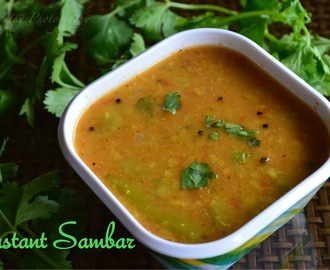 Instant Sambar | Simple way to make Sambar