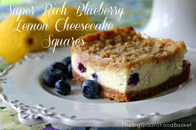 Delicious Blueberry and Lemon Cheesecake Squares