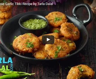 Potato Cheese Garlic Tikki Recipe Video