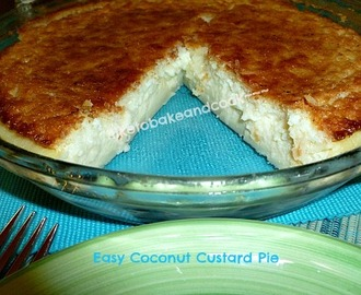 Impossible Coconut Custard Pie!    Delish!!