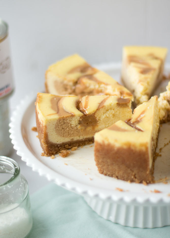 Salted dulce de leche cheesecake