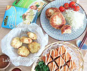 Laksa Seafood Tofu, Chicken Potato Croquette & Chicken Nugget using Dancing Chef Paste