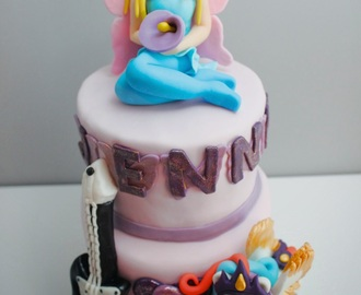 Tarta con Pony, Hada y Rok and Roll!!!!!!!