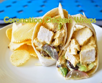 Low Fat Coronation Chicken Wraps