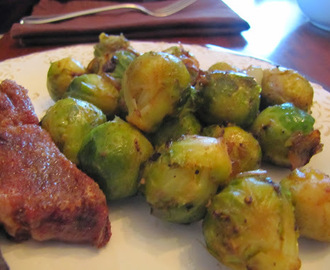 Pan Roasted Brussels Sprouts w/Browned Butter & Shallots