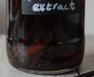 Homemade vanille extract