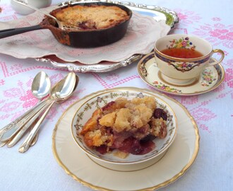 Fresh Cherry Skillet Cobbler