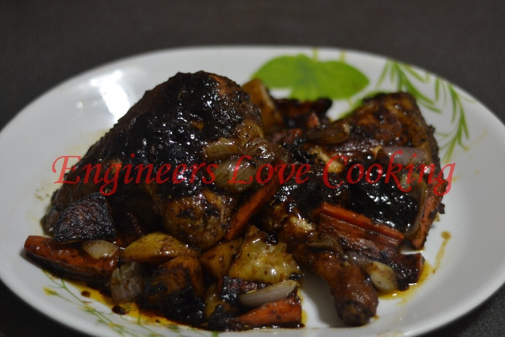 AYAM PANGGANG MADU BEREMPAH MENGGUNAKAN PEMANGGANG AJAIB / SPICY HONEY CHICKEN GRILL USING MAGIC PAN GRILL
