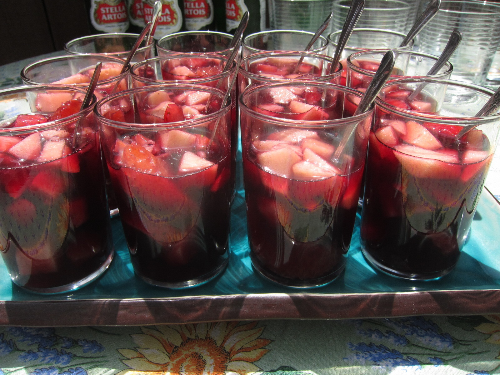 Ice Cold Sangria Fruit Salad Keeps Everyone Cool and Happy