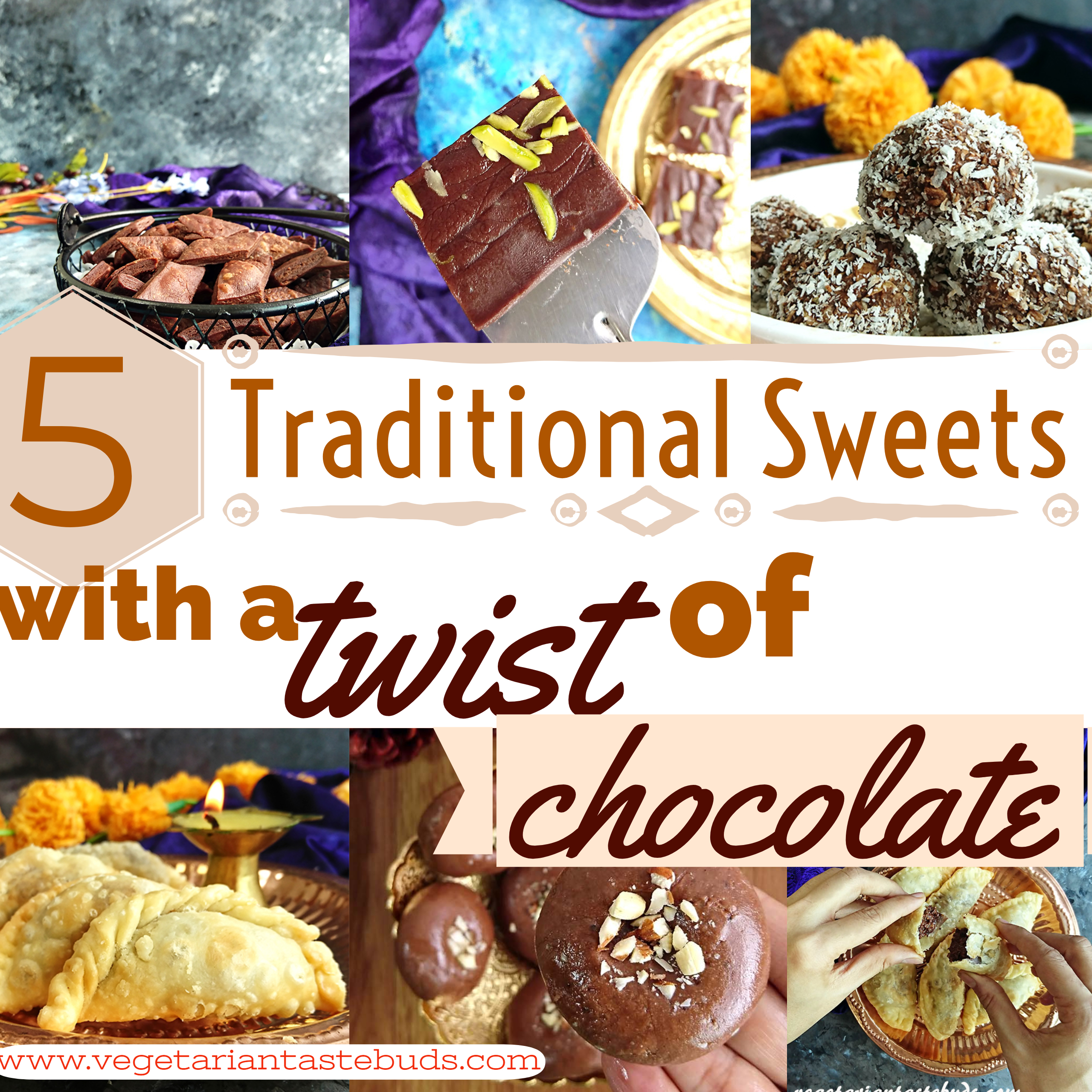 5 Traditional Sweets with a twist of chocolate | diwali special chocolate sweets | easy diwali sweets