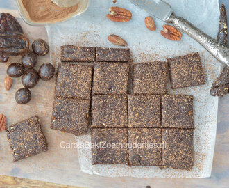 Gezonde raw brownie