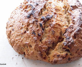Sourdough onion bread including fried onions
