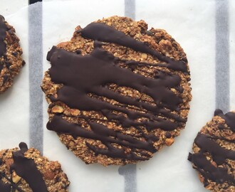 Giant chocolate breakfast cookie