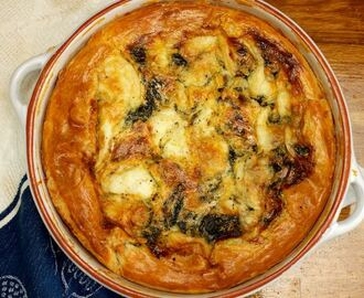 Quiche met spinazie