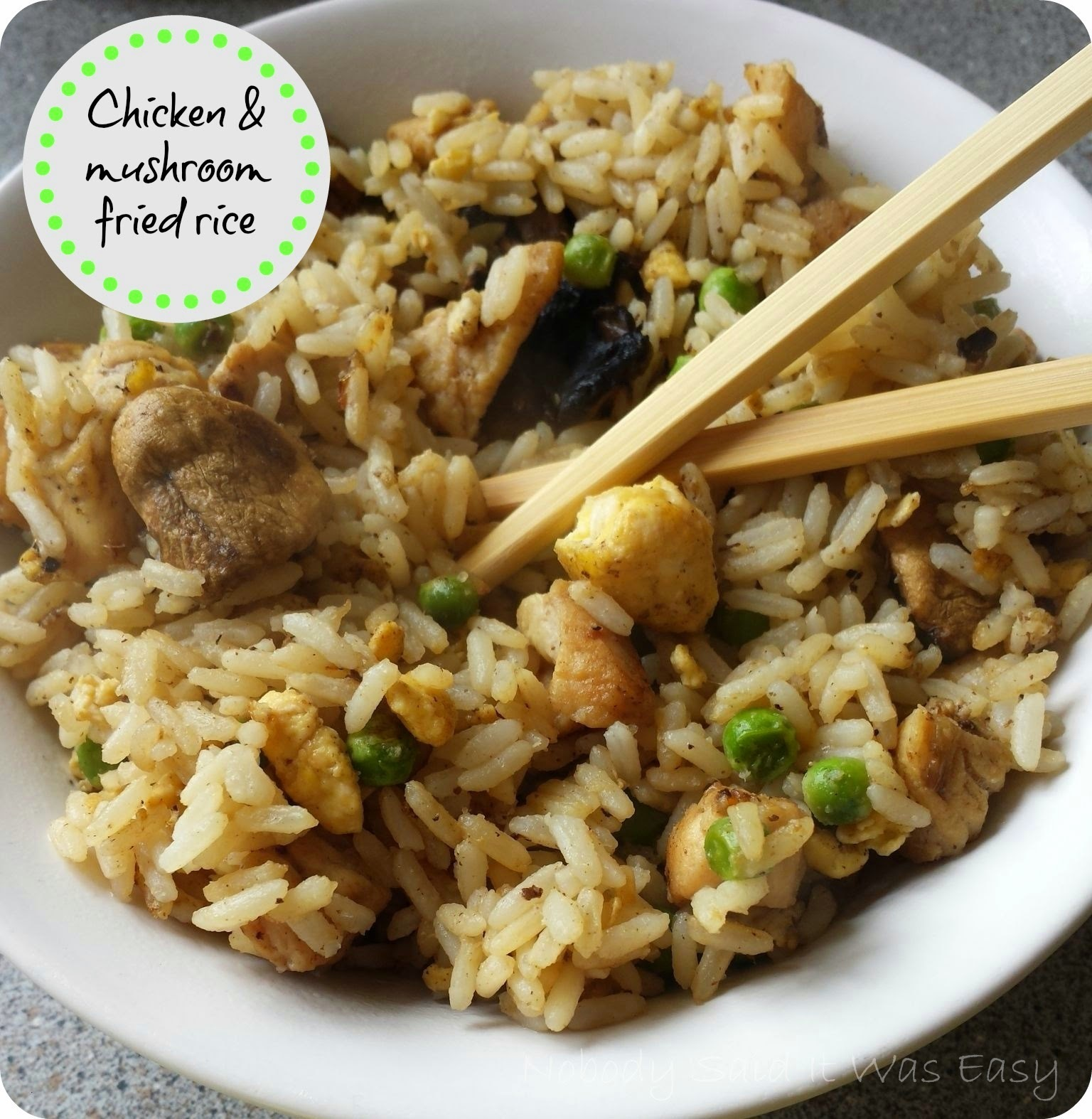 Recipe - Chicken & mushroom fried rice