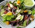 California Salad with Roasted Chicken and Avocado Dressing