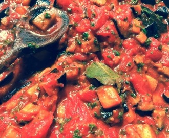 Imam Bayildi - Middle Eastern inspired aubergine & tomato stew