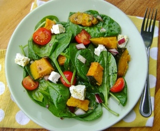 Roasted Pumpkin Salad with a Za'atar dressing