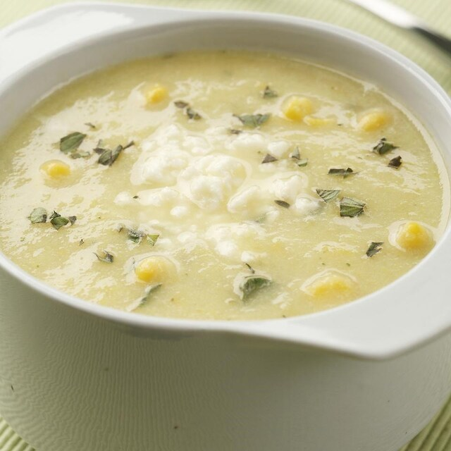 Summer Squash and Corn Soup