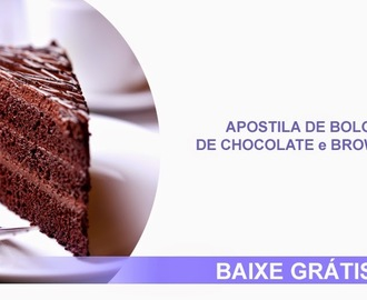 Apostila de Bolos de Chocolate e Brownies
