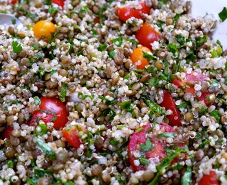 Puy Lentil and Quinoa Sumac Salad