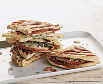Grilled Turkey and Cheddar Sandwiches with Mango Chutney