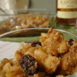 Holiday Baking:  Rum Raisin Bread Pudding with Caramel Sauce