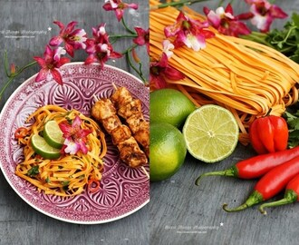 Thai Chicken Satay and Chili Noodles