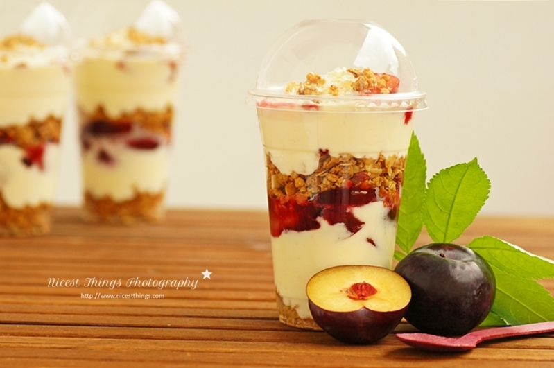Plum And Mascarpone Dessert