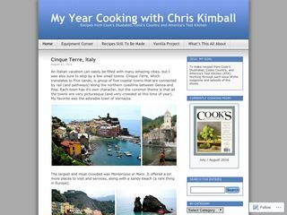 My Year Cooking with Chris Kimball